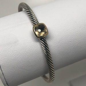 David Yurman Smoky Topaz Noblesse Cuff Bracelet